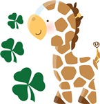Irish Giraffe St Patricks T-shirts