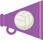 Volleyball Megaphone Tee Shirts an