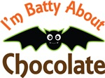 Batty About Chocolate Halloween Tee Shirts