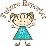 Future Reporter Stick Girl Occupation T-shirts
