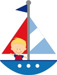 Sailboat Future Sailor Kids T-shirts