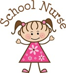 SCHOOL NURSE STICK FIGURE GIRL T-SHIRTS