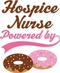 Hospice Nurse Powered By Donuts Gift T-shirts