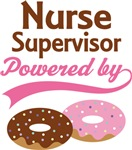 Nurse Supervisor Powered By Donuts Gift T-shirts