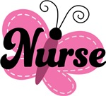 Nurse Butterfly Occupation Tee Shirts