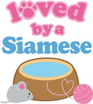 Loved By A Siamese Cat T-shirt Gifts