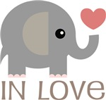 Cute Elephant In Love Relationship Tshirts