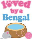 Loved By A Bengal Cat T-shirts