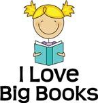 Book Lover Stick Figure Kids T-shirts