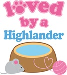 Loved By A Highlander Cat T-shirts