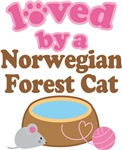 Loved By A Norwegian Forest Cat Tshirt Gifts
