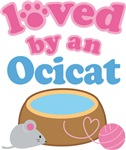 Loved By An Ocicat Cat T-shirts