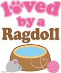 Loved By A Ragdoll Tshirt Gifts