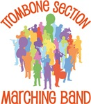 Trombone Section Marching Band Tee shirts