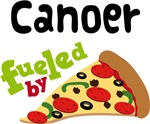 CANOER Funny Fueled By Pizza T-shirts
