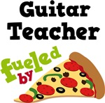 Guitar Teacher Fueled By Pizza T shirts