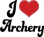 I Heart Archery T-shirts and Gifts