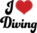 I Heart Diving T-shirts and Gifts