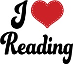 I Heart Reading T-shirts and Gifts