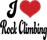 I Heart Rock Climbing T-shirts and Gifts