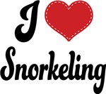 I Heart Snorkeling T-shirts and Gifts