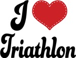 I Heart Triathlon T-shirts and Gifts