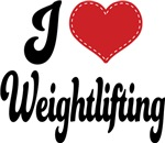 I Heart Weightlifting T-shirts and Gifts