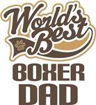 Boxer Dog Dad (Worlds Best) T-shir
