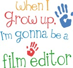 Future Film Editor Kids T-shirts