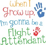 Future Flight Attendant Kids T-shirts