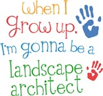 Future Landscape Architect Kids T-shirts