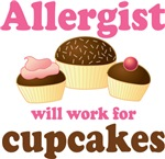 Allergist Cupcake Design T-shirts and