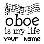 PERSONALIZED OBOE MUSIC T-SHIRTS