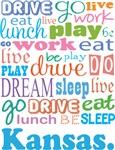 EAT SLEEP LIVE DREAM Kansas T-SHIRTS