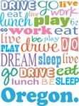 EAT SLEEP LIVE DREAM Oregon T-SHIRTS