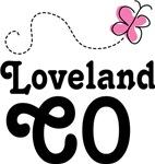 Loveland Colorado Butterfly T-shirt