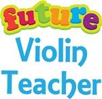 Future Violin Teacher Kids Music T-shirts