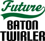Future Baton Twirler Kids T Shirts
