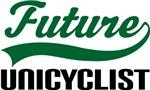 Future Unicyclist Kids T Shirts