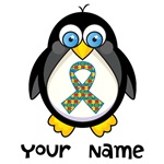 Personalized Autism Penguin T-shirts