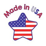 Made in USA Red White Blue