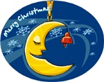 Christmas Moon Ornament