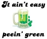 It ain't easy peein' green