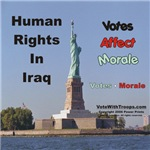Statue of Liberty, Human Rights in Iraq