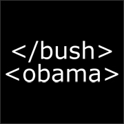 end bush start obama html geek election t-shirt