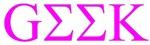 Lavender Greek Geek