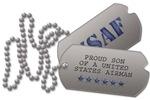 Air Force Son Dog Tags