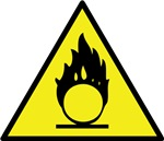 Oxidizing Material Warning Sign