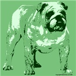 Green Tone Bulldog Design