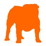 Orange Bulldog Silhoutte